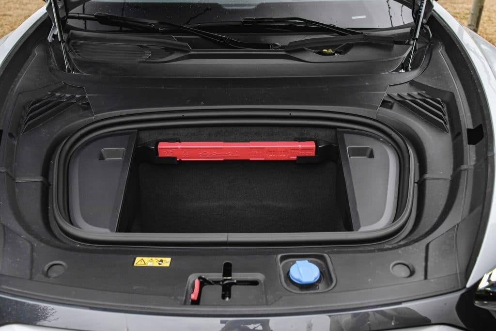 Coffre de l'Audi e-tron GT