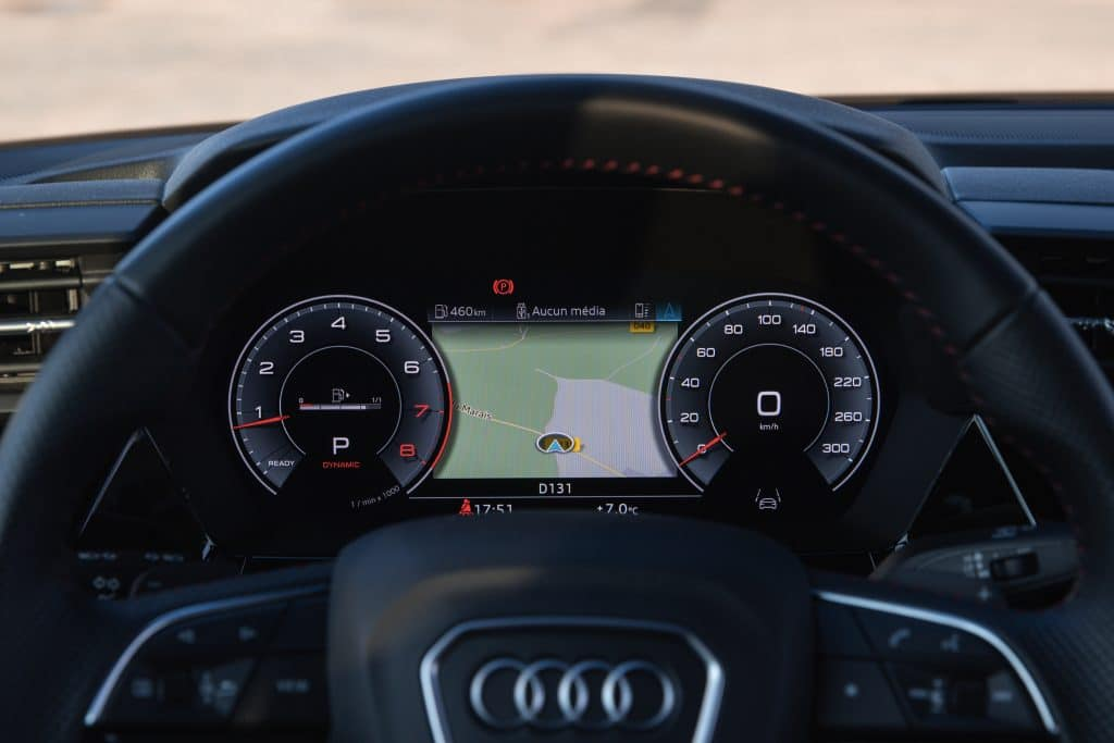Compteur de l'Audi S3 berline