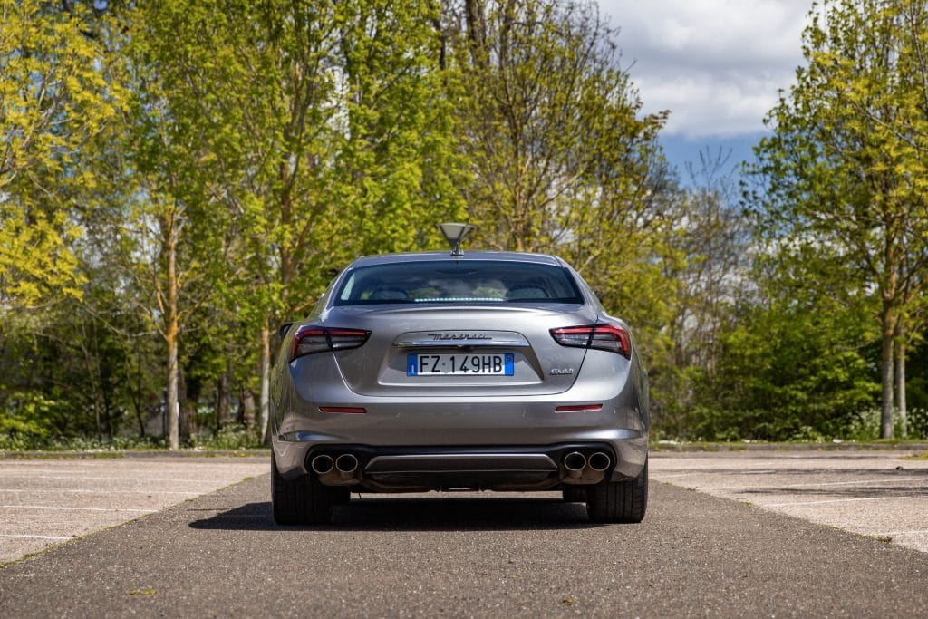 Arrière de la Maserati Ghibli hybride