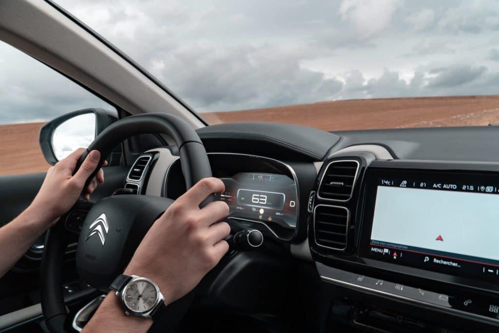 Poste de conduite du Citroën C5 Aircross