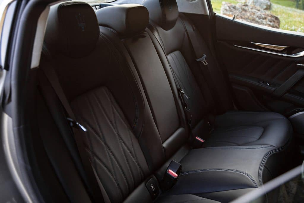Sièges arrière de la Maserati Ghibli hybride